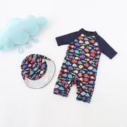 Gucci baby boy children baby sunscreen swimsuit warm suit tide surf spa Korea