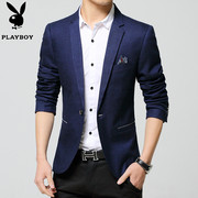Playboy casual suit men's thin 2017 spring new style small suit single Western Cotton Jacket Mens