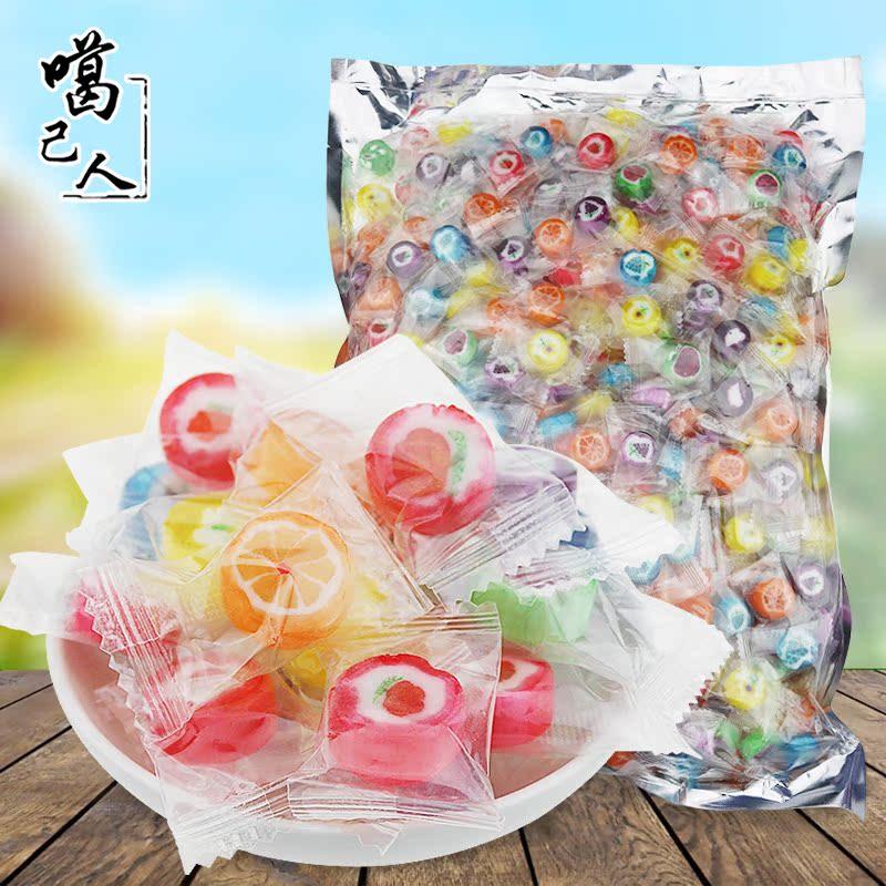 噶己人创意手工水果切片糖2.5kg 花式圣诞节儿童招待糖果婚庆喜糖