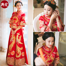 Show Wo clothing bride 2018 new Dragon Phoenix wedding Chinese wedding dress toast clothing show kimono costume wedding dress