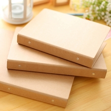 Kraft Paper Folder Folders Loose-leaf notebook Note Cover A5A6 Book Cover