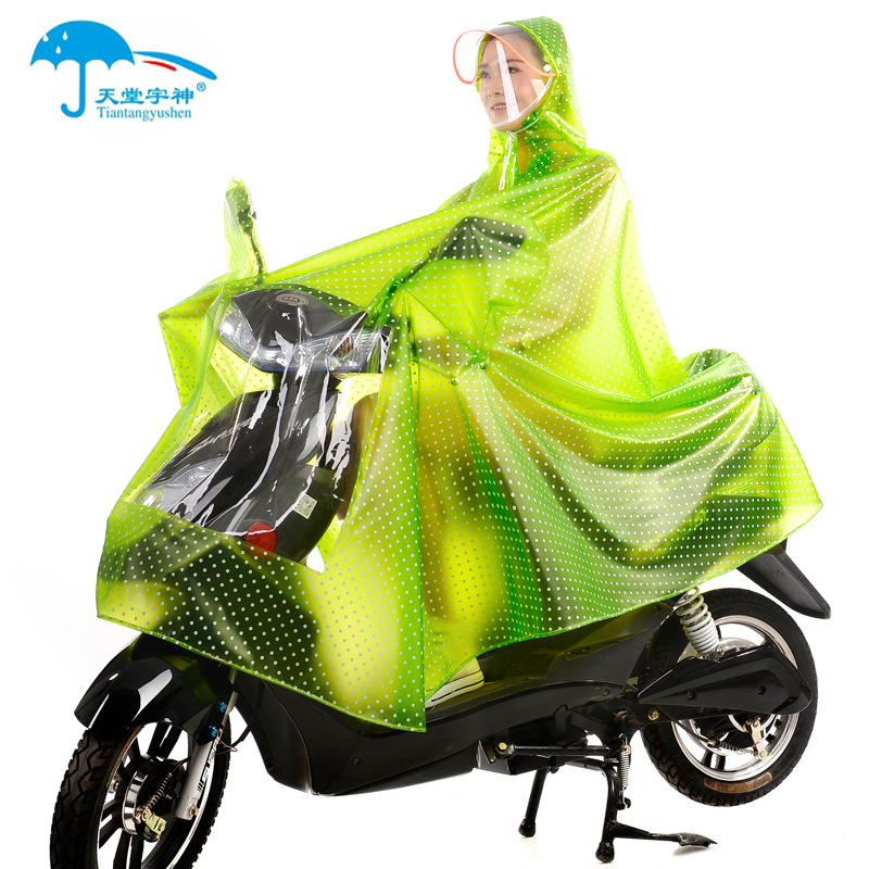 Raincoat bicycle adult male lady walking single Korean fashion wide brim increase cycling poncho with masks