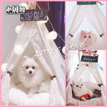 Kennel cat litter washable medium and small dogs ins pet tent dog supplies kitty villa pet wood house