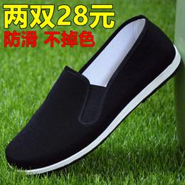 老北京布鞋男式工作布鞋牛津底男黑色布鞋传统低帮单鞋司机懒人鞋