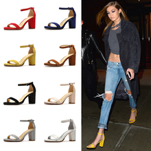 Mr. Europe and the United States SW hdy leather buckle buckle heel sandals female summer sexy open toe with high heel