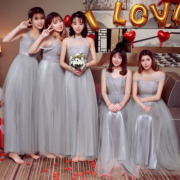 The long serving 2017 new autumn and winter Korean sisters feast bridesmaid dresses will be president of bestie evening dress