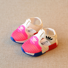 01-2-3 years old children summer sandals boy baby shoes shoes and small expert female single net breathable shoes Toddler