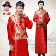 Wo Men's clothing show Chinese dress wedding dress gown jacket groom dragon tunic winter costume costume