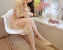 Xian Feng Xu gentle and beautiful Miss honey flowing dresses elegant court ladies lace long sleeve wind