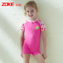 Zoke childrens swimsuit girl in the big boy baby one-piece swimsuit female gram sand beach sunscreen quick-drying baby swimming
