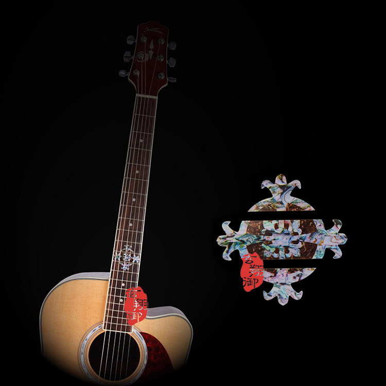 A fingerboard sticker guitar neck knob fender guitar guitar carved shell inlaid guitar accessories