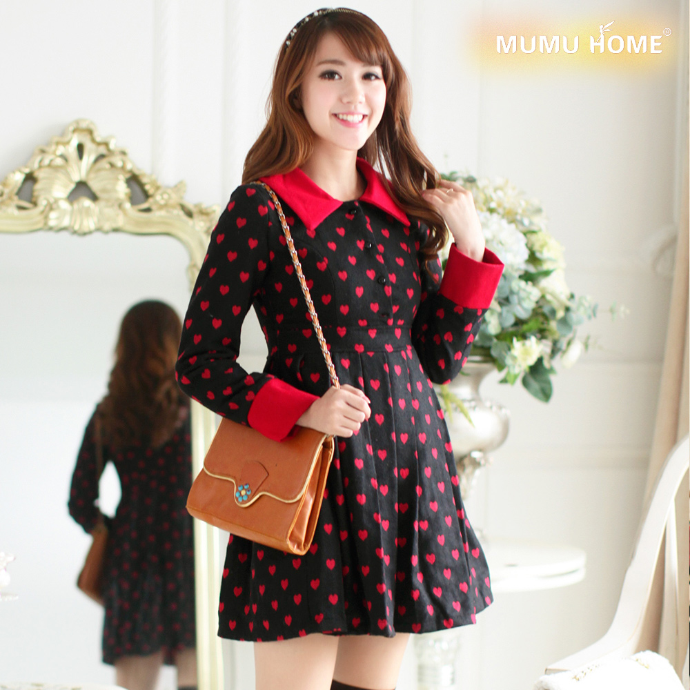 The area is 199 minus 100. Sweet Printing long sleeve dress temperament high waist Korean version pleated