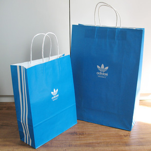 Counters authentic Clover and adidas environmental paper bag