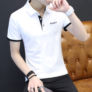 2017 new men's short sleeve T-shirt personality. Metrosexual T-shirt summer cotton polo shirt Lapel dress trend