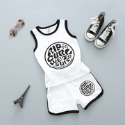 Baby boy children summer suit vest sleeveless cotton clothes shorts two piece set 2-3-4-6 5 movement