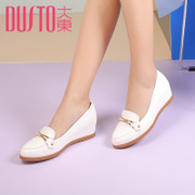 2017 new Korean spring Dadong shallow mouth shoes head comfort shoes all-match Wedges Shoes