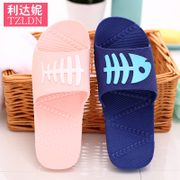 Bathroom slippers women's home in the summer home indoor anti slip thick bottom couple bath plastic children cool slippers summer