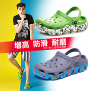 AUZ men Crocs lovers summer sandals slippers increased thick non slip bottom Baotou beach shoes casual shoes