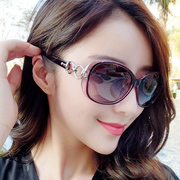 Sunglasses, women's stars, sunglasses, 2017 new fashion, elegant, Korean retro round face, personalized glasses