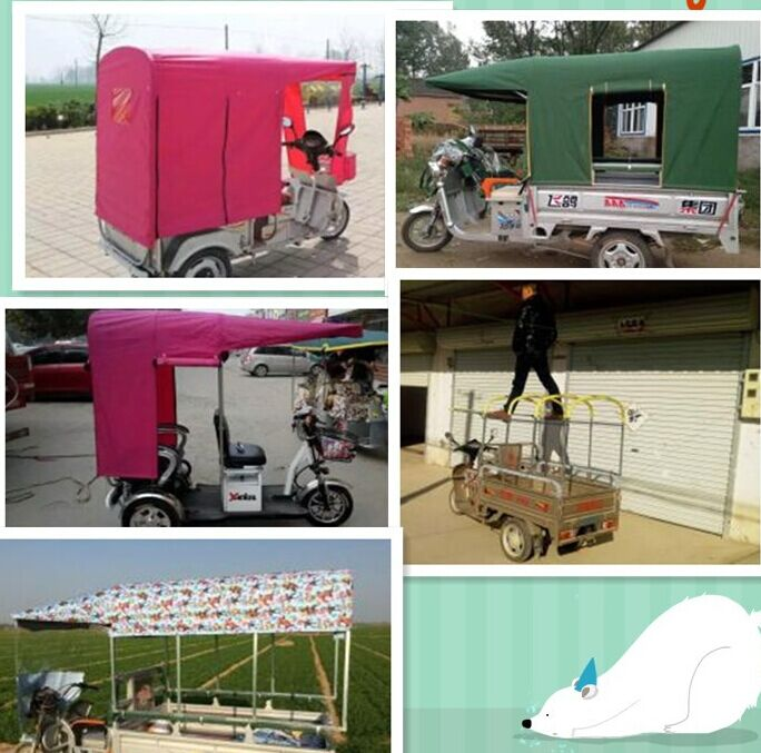 Small bus shed closed folding sunshade canopy wind shed shed tricycle tent