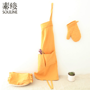 The 2017 summer new literary women's prime wisp household multifunctional kitchen three piece SX7263 Wen apron
