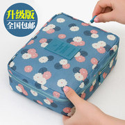 Portable high-capacity female bag cosmetic bag hand bag cosmetic bag waterproof Wash Bag Travel South Korea trumpet