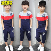 Kids Boys summer suit 2017 new children in summer two sets of children 11-13 years of age short tide
