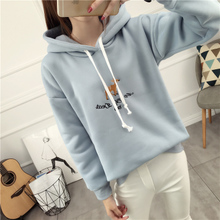 The original design of Sen female tribal hooded sweater sweater with embroidery cartoon head girls simple jackets tide