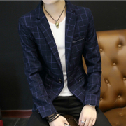 Men's casual suit Slim small suit Korean young British fashion trend with single west cashmere coat thickness