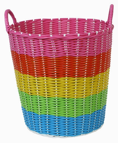 The dirty clothes basket of dirty clothes basket containing thick tube plastic rattan laundry baskets laundry basket toy box storage basket weaving