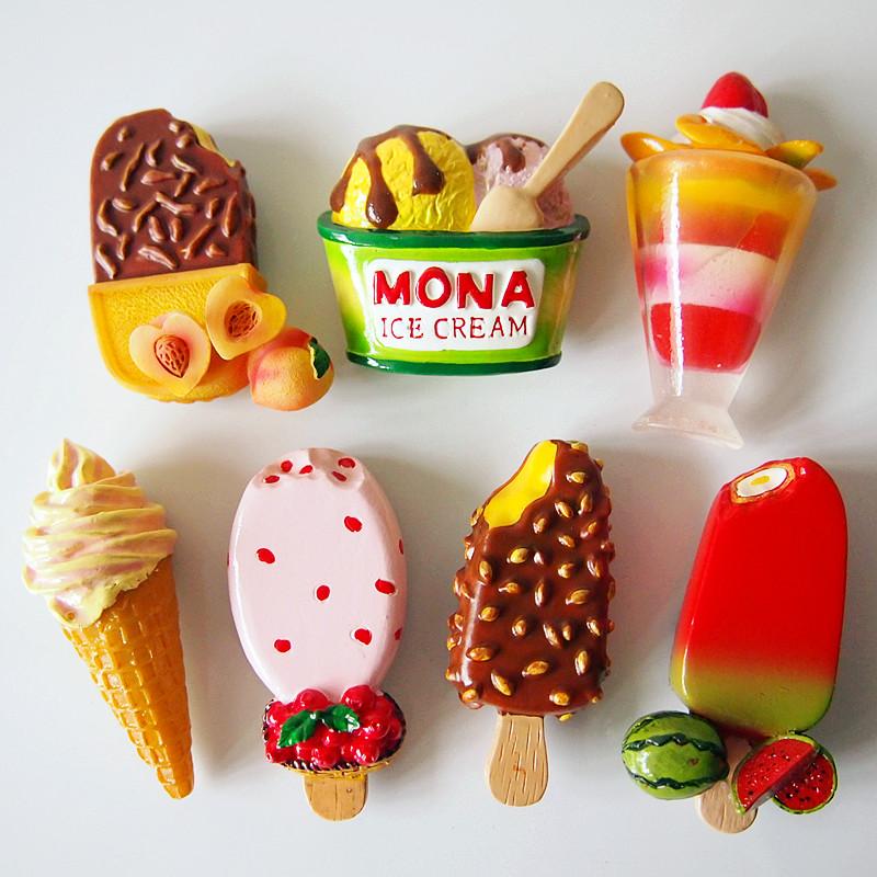 【全店满38包邮】3D立体仿真雪糕冰棒冰淇淋树脂磁性冰箱贴吸铁石