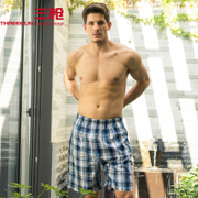 2 minus 10 shots Home Furnishing pants men loose cotton plaid shorts in summer men's old beach pants pants