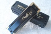 Hot HOHNER Cross ten hole Bruce hole harmonica to send 2DVD/ Harp cloth / leather case