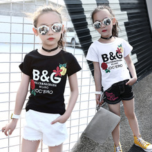 Summer girls boy t-shirt t-shirt dress coat 3 body blood 56 years old 78910111214