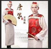 New costume costume-men's costumes robes long robe jacket photography Baylor age of Qing dynasty landlord clothing