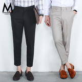 The fall of men's casual trousers pants men's business British Korean Slim solid color feet trousers suit trousers
