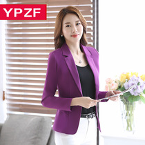 Little Blazer women spring 2017 new OL wild temperament suits cropped slim business suit Jacket Womens clothing