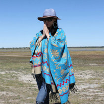 National wind Cape girls thick warm large wool occur when the woman traveling in Tibet between India and Pakistan Nepal scarf