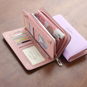 Ms. long purse female South Korea version high-capacity multifunctional zipper wallet wallet bag ladies small fresh