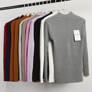 New winter half Polo neck long sleeved Pullover Sweater Shirt Short slim slim thickening