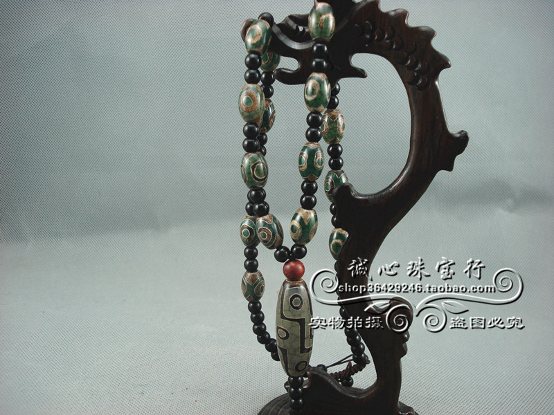 Tibet authentic god bead necklace Chalcedony beads 9 nine eyes days bead supreme day bead, sent appraisal certificate