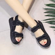Female casual sandals summer 2017 new flat with thick bottom flat all-match Korean students in Rome platform sandals