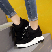 Korean female sports shoes fall 2017 new thick bottom female muffin bottom increased travel shoes casual shoes Harajuku
