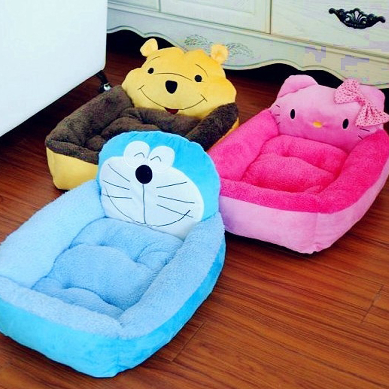 Cartoon pet dog kennel teddy VIP leung kennel winnie the pooh machine cat Kitty warm lovely cat litter to winter