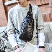 The new leisure chest pack male Korean Satchel Bag Purse cortex small men single shoulder bag sports backpack bag tide