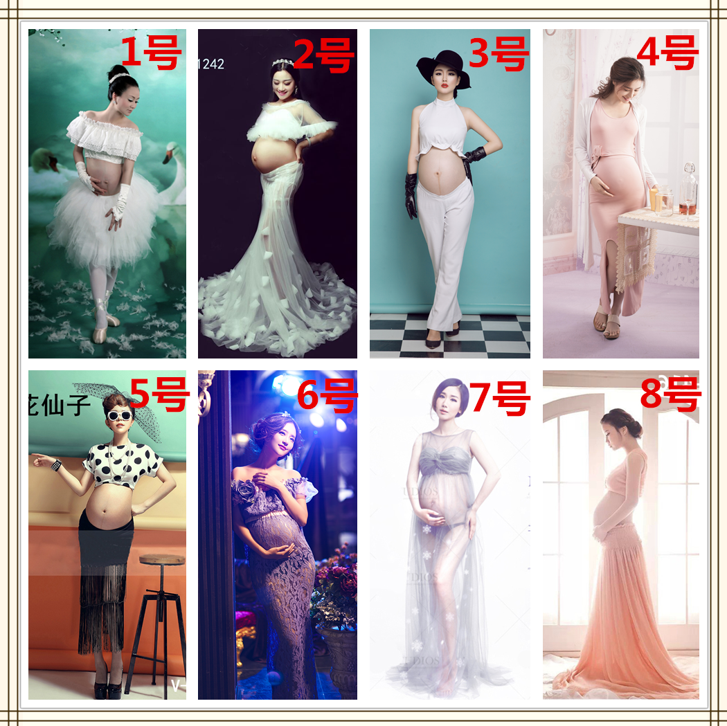 2015 new photography lace maternity pictorial pregnant women clothing pregnant theme photo costume studio pregnant women