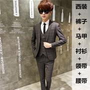 Three sets of men and women's suits in the spring and autumn season suits young Korean Students