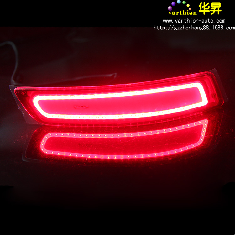 14 new corolla modified after the new led bar light car special after tail lamp to multifunctional fog lamps