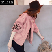 Spring coat female Korean loose tide in spring and autumn 2017 new BF jacket all-match short baseball uniform female students