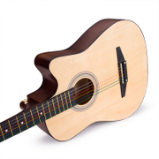 Post 38 inch folk guitar, beginner, male and female students, practice musical instruments, send packs, beginners, Jita